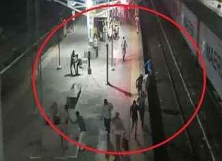 harassment on railway station in nandurbar mob pelts stone at railway station
