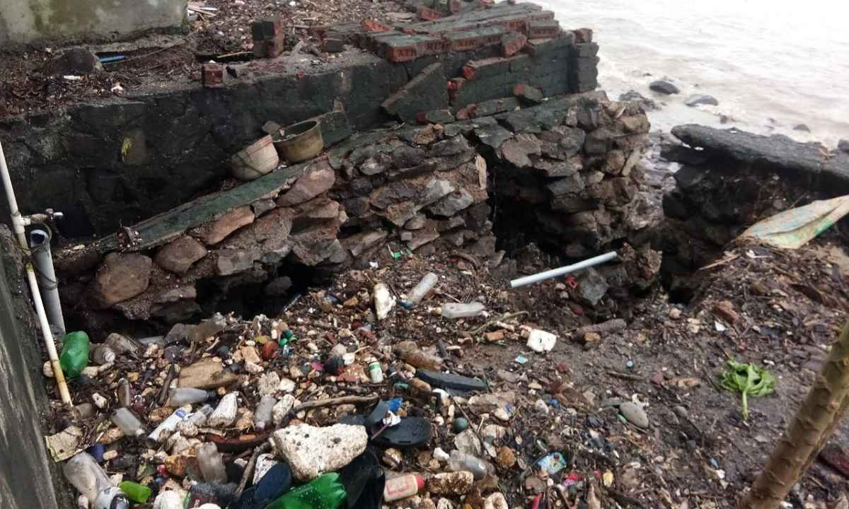 Families along the Bourli coast are in danger in Murud