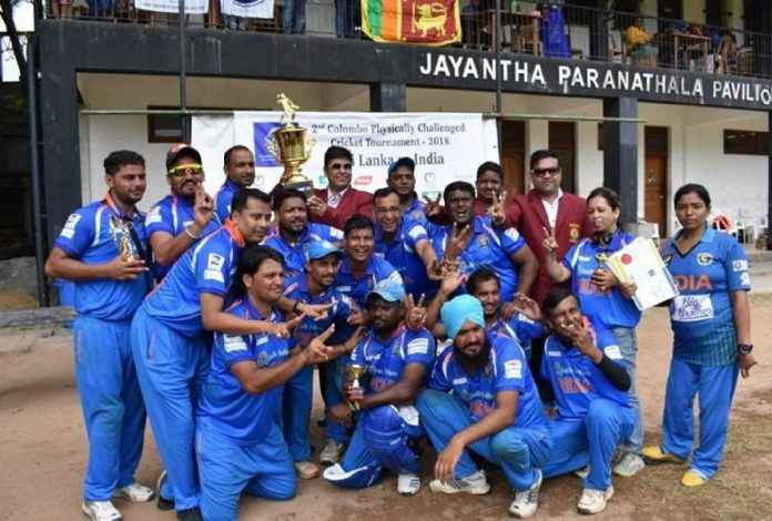 t20 physical disability world cricket series india beats pakistan