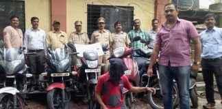 two-wheeler thief arrested in Kalyan