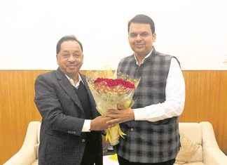 Narayan Rane with Devendra Fadnavis