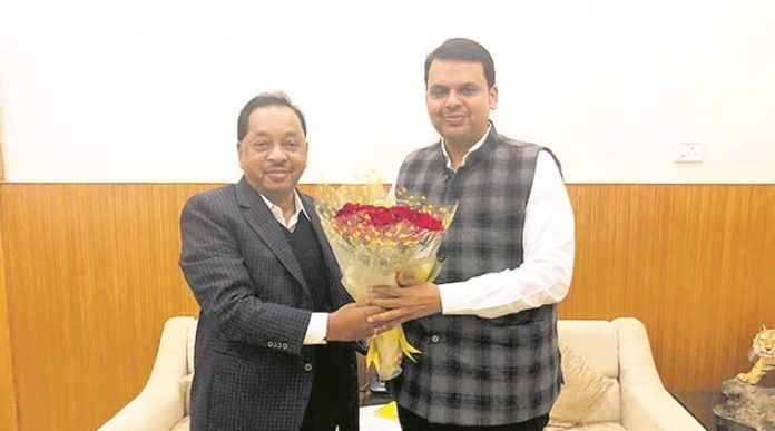 Narayan Rane with Devendra Fadnavis