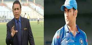 sunil gavaskar says MS Dhoni should go without being pushed out