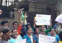 Vidyarthi bharti protest against amithbh bachchan to support aarey in mumbai