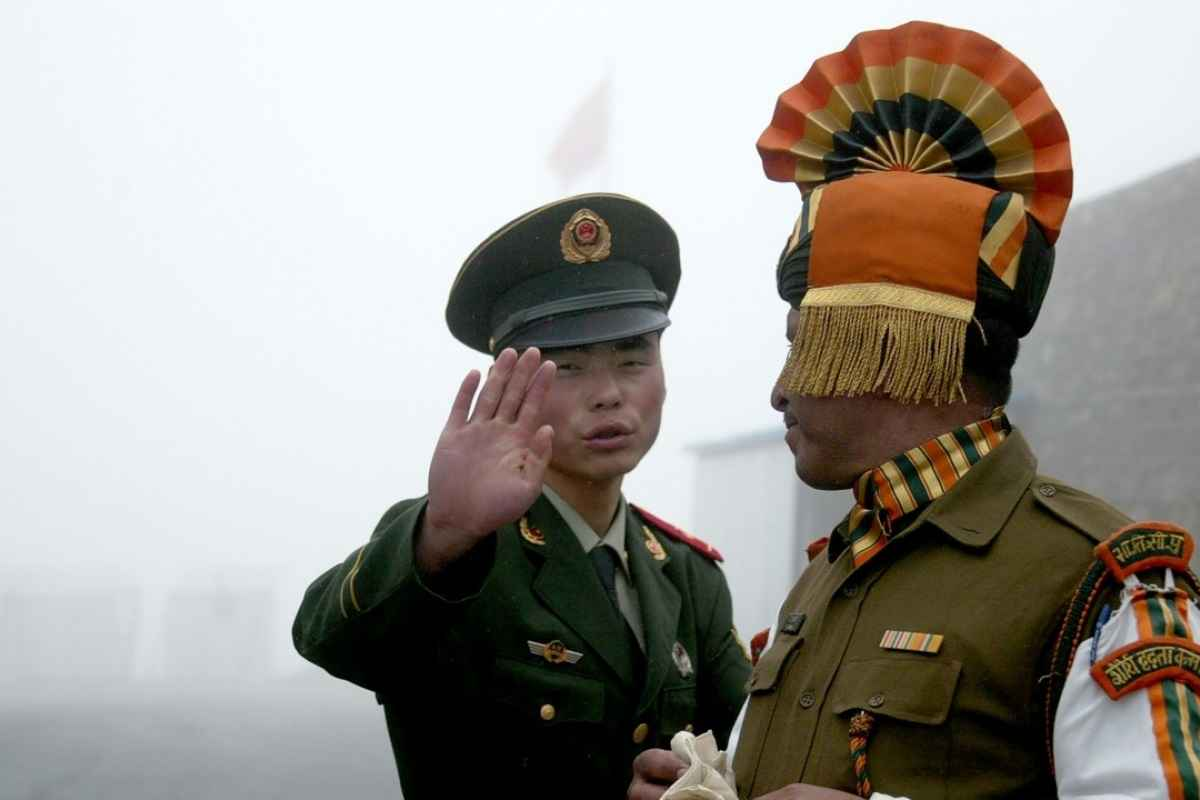 stress situation again between Indian and Chinese soldiers