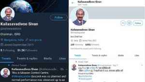 fake twitter accounts in the name of isro, chief k sivan on the rise