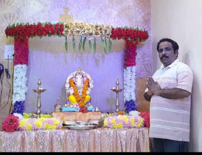 pramod jadhav celebrate eco friendly ganeshotsav at home