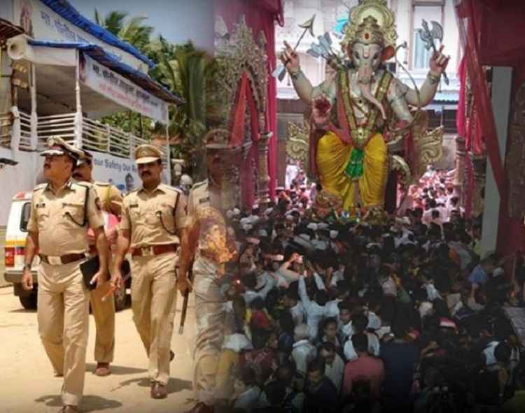 mob scuffle to police in ganesh idol immersion at pune