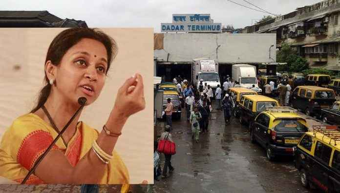 ncp mp supriya sule angry on taxi driver at dadar railway station