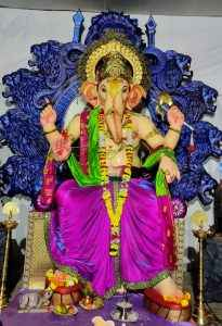 this ganesh mandal decoration highlights the importance of youth initiative for the country १