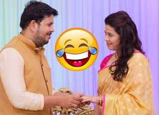 radhika is ready to marry with saumitra; majhya navryachi bayko serial