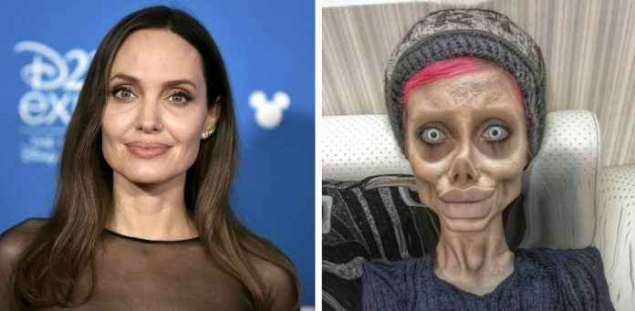 iranian instagram star arrested for posting spooky angelina jolie lookalike pics