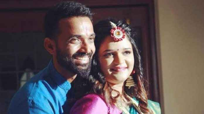 ajinkya rahane became father