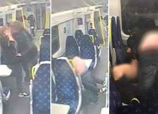 drunk couple caught romping in train capture in train cctv video viral