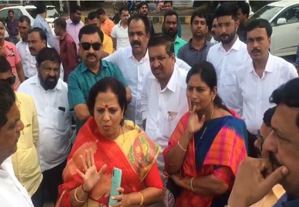 BJP corporators sent to an unknown places