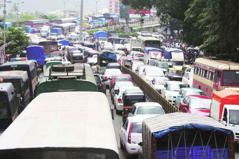 traffic issues in thane due to metro work