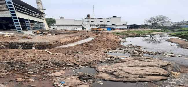 midc company encroachment into the river in ambernath