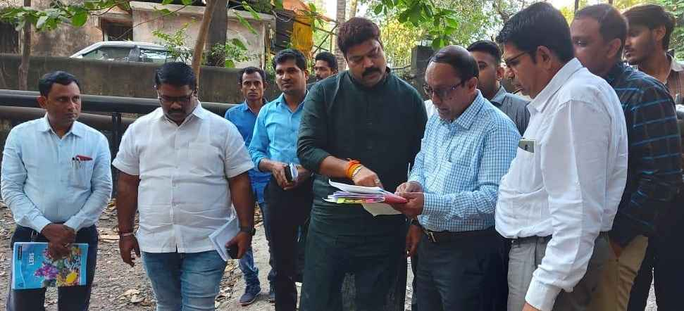 kdmc water issue observed by mla raju patil