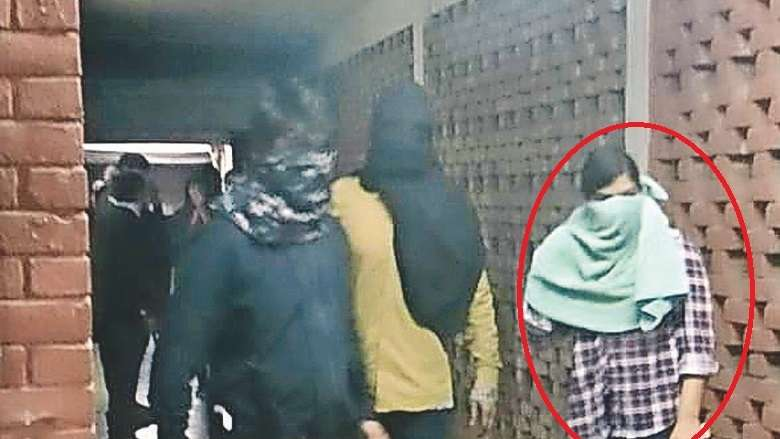 jnu violence police identify masked woman in video