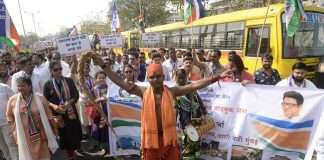 mns whip march on rto office in vashi