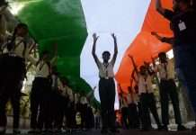 new mumbai 1111 feet long tricolor rally
