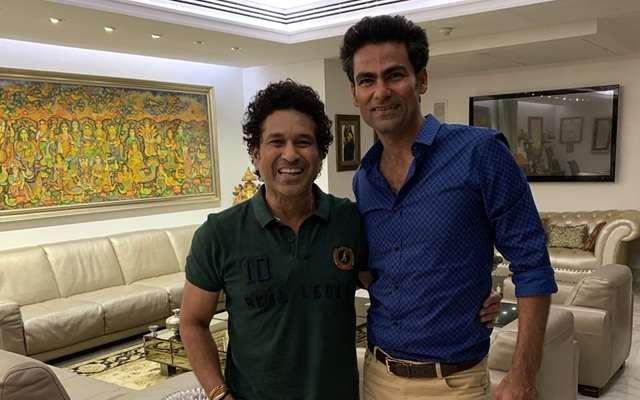Mohammad Kaif with Sachin Tendulkar