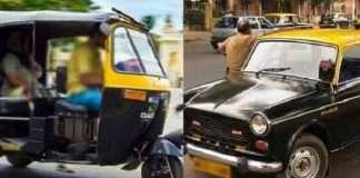 Ruflight indicator on rickshaw-taxis