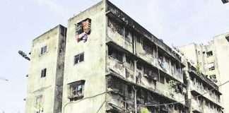 old building redevelopment work stuck in mumbai