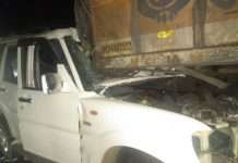 chandrapur accident 6 dead and 6 injured in a collision between a car and a truck in mul
