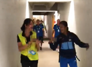 at time of india vs new zealand match jemimah dance with security guard video viral on twitter