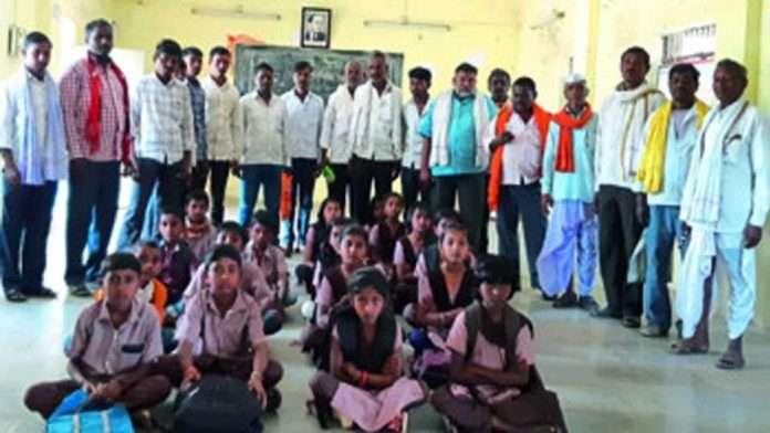 school student agitated not having teacher kolhapur zp