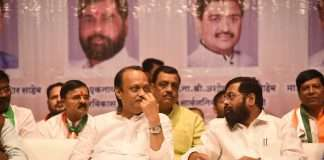 Ajit pawar in navi mumbai rally