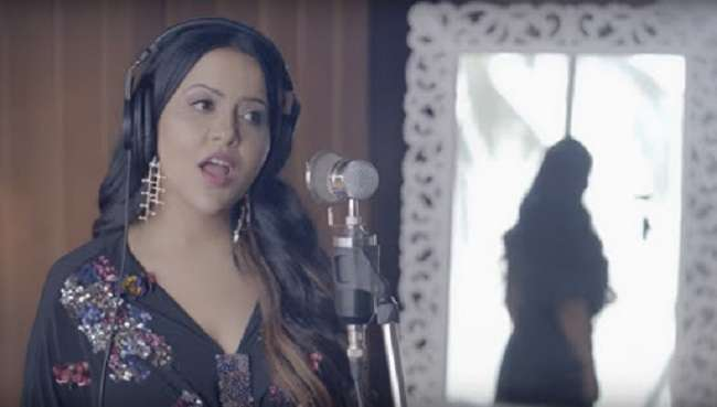 valentine day special english song launched by amruta fadnavis