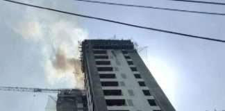 fire breaks out at the terrace
