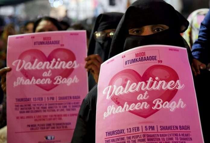 Modi Valentine Shaheen bagh