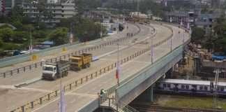 reconstruction the gokhale bridge in andheri