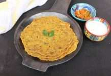healthy dudhi thepla recipe