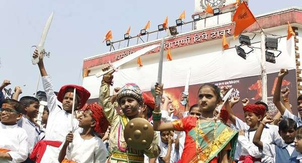 historical exhibition on occasion for Shiv Jayanti at Shivaji Maharaj ground in Thane