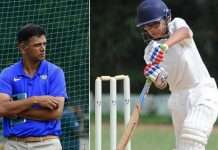 rahul dravid and son