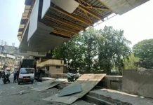 One injured in collapse of letter on Kalyan Skywalk