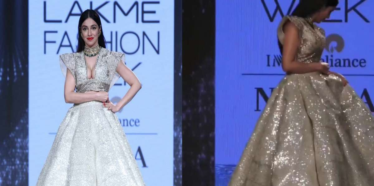bollywood divya khosla kumar faces an oops moment right at the beginning of her ramp walk at but use her presence of mind watch video