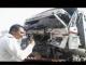 dumper accident in vashi flyover at navi mumbai