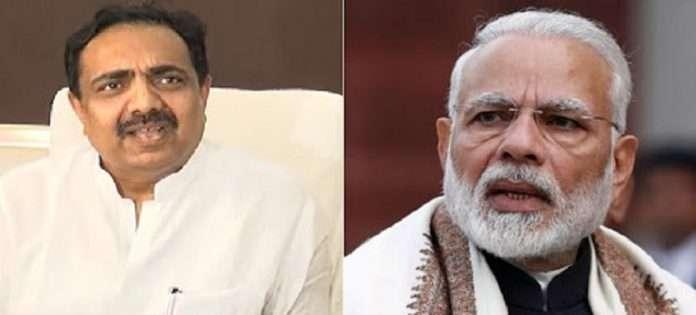 Jayant Patil and Narendra Modi