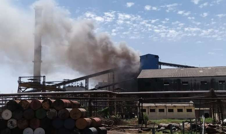fire in Vikhe Patil Co-operative Sugar Plant
