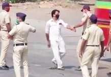 police beaten