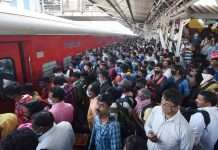 rush at railway station