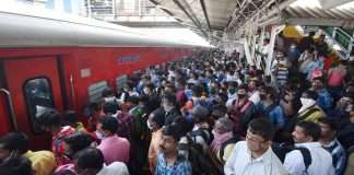 rush at railway station