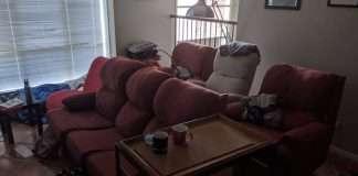 Australian family recreate 15-hour holiday flight in living room