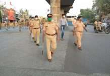 flag march by mumbai police ghatkopar