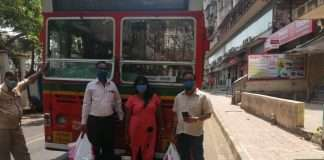 adhareeka trust distribute food to police, srp and traffic police in borivali